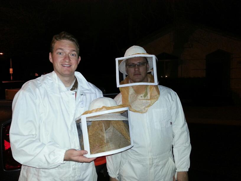 Clay Harper and Josh Heywood Beekeepers...